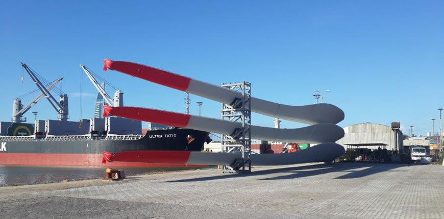 El Puerto de Bahía Blanca avanza para recibir aerogeneradores