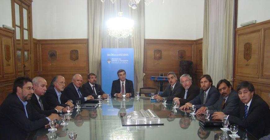 Reunión con el Ministro del Interior y Transporte de la Nación